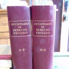 Diccionarios de segunda mano: DICCIONARIO DE DERECHO PRIVADO. DOS TOMOS. EDITORIAL LABOR S.A. 1950. Lote 90958970