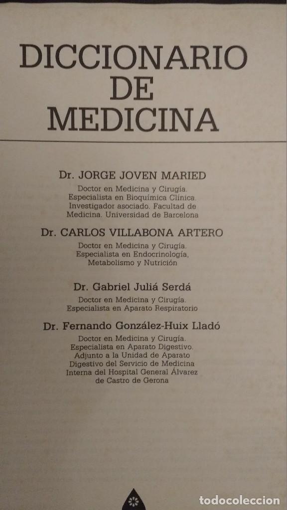 Diccionarios de segunda mano: Diccionario de medicina, Jorge Joven, Carlos Villabona, Gabriel Julià - Foto 3 - 92228110