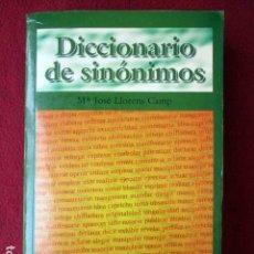 Diccionarios de segunda mano: DICCIONARIO DE SINÓNIMOS. Mª JOSÉ LLORENS CAMPS. COLECCIÓN CULTURA. 1998 PEDIDO MÍNIMO 5€. Lote 92418145