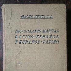 Diccionarios de segunda mano: DICCIONARIO MANUAL DE ESPAÑOL-LATINO Y LATINO-ESPAÑOL - PLÁCIDO MUGÍA S.I. Lote 93570400