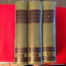 Diccionarios de segunda mano: DICCIONARIO ENCICLOPÉDICO ILUSTRADO, 3 TOMOS, EDIT. RAMÓN SOPENA, 1955. Lote 93863665