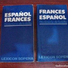 Diccionarios de segunda mano - DIFICIL DICCIONARIO ESPAÑOL FRANCES FRANCES ESPAÑOL DE LEXICON SOPENA DICCIONARIO DE BOLSILLO 1987 - 95026291