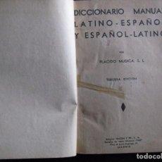 Diccionarios de segunda mano: DICCIONARIO MANUAL LATINO-ESPAÑOL Y ESPAÑOL-LATINO - MUGICA, PLÁCIDO. Lote 95046915