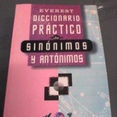 Diccionarios de segunda mano: SINÓNIMOS Y ANTÓNIMOS. DICCIONARIO PRACTICO EVEREST.. Lote 95883511