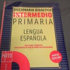 Diccionarios de segunda mano: DICCIONARIO DIDÁCTICO INTERMEDIO PRIMARIA LENGUA ESPAÑOLA SM. NUEVO CON PRECINTO.. Lote 95888223