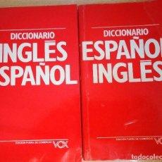 Diccionarios de segunda mano: DICCIONARIOS INGLES ESPAÑOL Y ESPAÑOL-INGLES. Lote 95892091