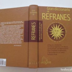 Diccionarios de segunda mano: GRAN DICCIONARIO DE REFRANES. 5000 REFRANES DE AYER Y HOY DEFINIDOS Y COMENTADOS. RM82654. . Lote 96694907