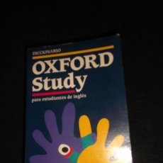 Diccionarios de segunda mano: DICCIONARIO OXFORD STUDY ESPAÑOL INGLES INGLES ESPAÑOL 1306 PAGINAS 1996- 2000. Lote 96977887