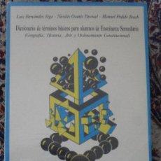 Diccionarios de segunda mano: DICCIONARIO DE TÉRMINOS BÁSICOS PARA ALUMNOS DE ENSEÑANZA SECUNDARIA. CEP. Lote 96988291