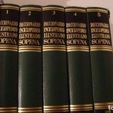 Diccionarios de segunda mano: DICCIONARIO ENCICLOPEDICO ILUSTRADO SOPENA 1987. 5 TOMOS. Lote 97150299