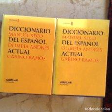 Diccionarios de segunda mano: DICCIONARIO DEL ESPAÑOL ACTUAL. MANUEL SECO.. Lote 144735461