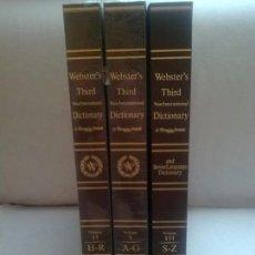 Diccionarios de segunda mano: WEBSTER´S THIRD NEW INTERNATIONAL DICTIONARY ( 3 TOMOS, COMPLETA). Lote 97783643