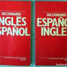 Diccionarios de segunda mano: 2 DICCIONARIOS- INGLÉS-ESPAÑOL / ESPAÑOL - INGLÉS - VOX - ED. BIBLIOGRAF 1992 - VER DESCRIPCIÓN. Lote 98840487