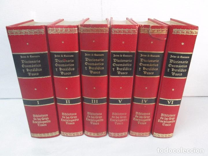 Diccionarios de segunda mano: DICCIONARIO ONOMASTICO Y HERALDICO VASCO. TOMOS DEL I AL VI.BIBLIOTECA DE LA GRAN ENCICLOPEDIA VASCA - Foto 2 - 98870847