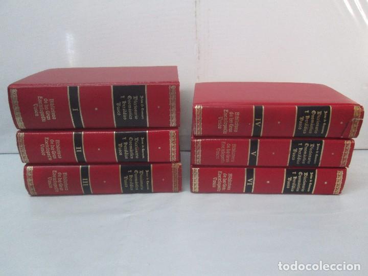 Diccionarios de segunda mano: DICCIONARIO ONOMASTICO Y HERALDICO VASCO. TOMOS DEL I AL VI.BIBLIOTECA DE LA GRAN ENCICLOPEDIA VASCA - Foto 3 - 98870847