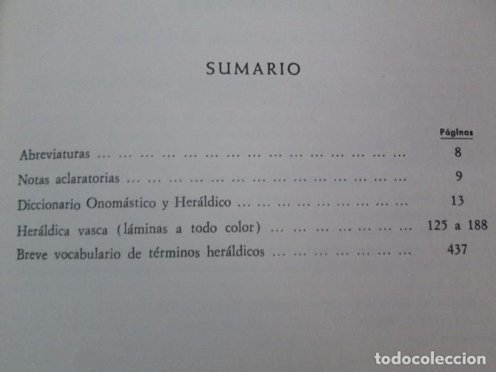 Diccionarios de segunda mano: DICCIONARIO ONOMASTICO Y HERALDICO VASCO. TOMOS DEL I AL VI.BIBLIOTECA DE LA GRAN ENCICLOPEDIA VASCA - Foto 9 - 98870847