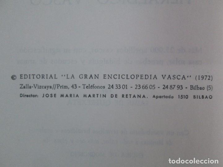 Diccionarios de segunda mano: DICCIONARIO ONOMASTICO Y HERALDICO VASCO. TOMOS DEL I AL VI.BIBLIOTECA DE LA GRAN ENCICLOPEDIA VASCA - Foto 26 - 98870847