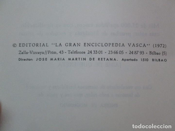 Diccionarios de segunda mano: DICCIONARIO ONOMASTICO Y HERALDICO VASCO. TOMOS DEL I AL VI.BIBLIOTECA DE LA GRAN ENCICLOPEDIA VASCA - Foto 36 - 98870847