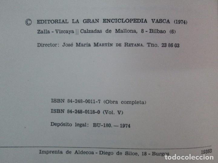 Diccionarios de segunda mano: DICCIONARIO ONOMASTICO Y HERALDICO VASCO. TOMOS DEL I AL VI.BIBLIOTECA DE LA GRAN ENCICLOPEDIA VASCA - Foto 45 - 98870847