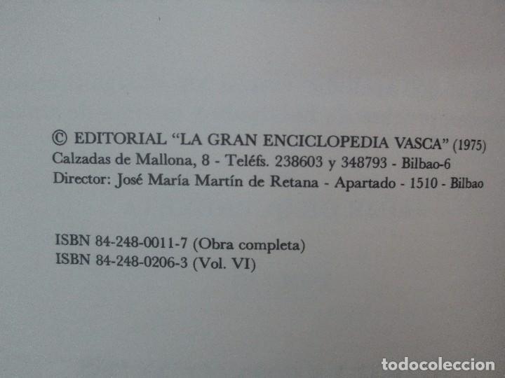 Diccionarios de segunda mano: DICCIONARIO ONOMASTICO Y HERALDICO VASCO. TOMOS DEL I AL VI.BIBLIOTECA DE LA GRAN ENCICLOPEDIA VASCA - Foto 56 - 98870847