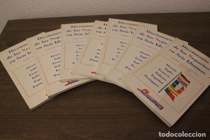 DICCIONARIO DE LOS NEGOCIOS EN SEIS IDIOMAS-7 TOMOS-COMPLETO-ACTUALIDAD ECONÓMICA (Libros de Segunda Mano - Diccionarios)