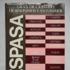 Diccionarios de segunda mano: GRAN DICCIONARIO DE SINÓNIMOS Y ANTÓNIMOS ESPASA, EDICIÓN ESPECIAL BBV 1989. Lote 195495393