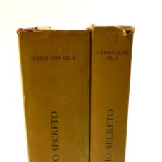 Diccionarios de segunda mano: DICCIONARIO SECRETO, 1968, CAMILO JOSÉ CELA, 2 TOMOS. 15X21,5CM. Lote 102582667