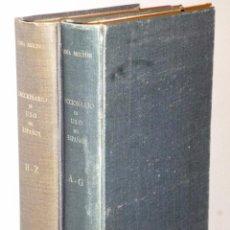 Livres d'occasion: DICCIONARIO DE USO DEL ESPAÑOL (2 VOLS. PRIMERA EDICIÓN ). Lote 103548099