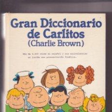 Diccionarios de segunda mano: GRAN DICCIONARIO DE CARLITOS CHARLIE BROWN. Lote 103834351