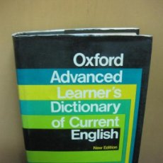 Diccionarios de segunda mano: OXFORD ADVANCED LEARNER'S DICTIONARY OF CURRENT ENGLISH OXFORD UNIVERSITY PRESS 1974.. Lote 104168119