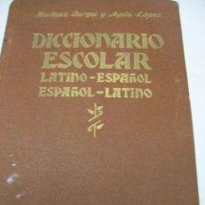 Diccionarios de segunda mano: DICCIONARIO ESCOLAR LATINO-ESPAÑOL. RAYFE. AÑO 1939. Lote 104464063