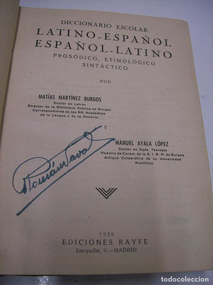 Diccionarios de segunda mano: Diccionario escolar Latino-Español. Rayfe. Año 1939 - Foto 2 - 104464063