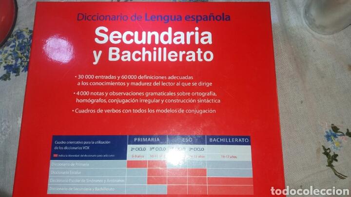 Diccionarios de segunda mano: DICCIONARIO SECUNDARIA Y BACHILLERATO LENGUA ESPAÑOLA - Foto 3 - 105076487