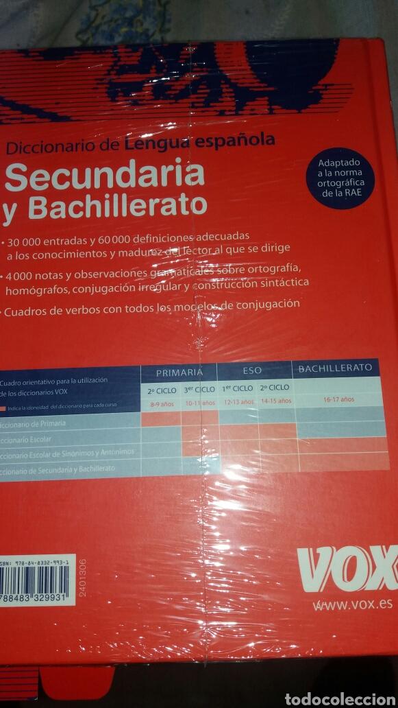 Diccionarios de segunda mano: DICCIONARIO SECUNDARIA Y BACHILLERATO LENGUA ESPAÑOLA - Foto 8 - 105076487