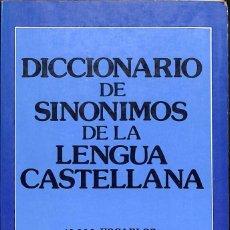 Diccionarios de segunda mano: DICCIONARIO DE SINONIMOS DE LA LENGUA CASTELLANA. Lote 105604795