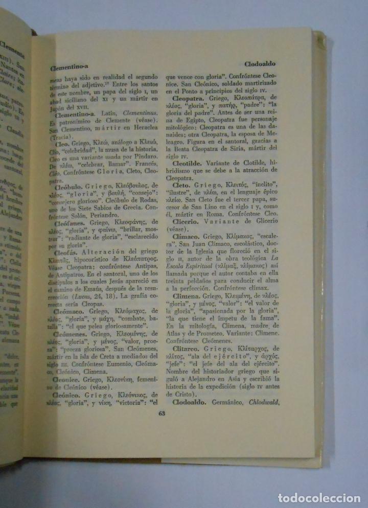 Diccionarios de segunda mano: DICCIONARIO DE NOMBRES PROPIOS. GUTIERRE TIBON. FONDO DE CULTURA ECONOMICA MEXICO. TDK329 - Foto 2 - 106000835