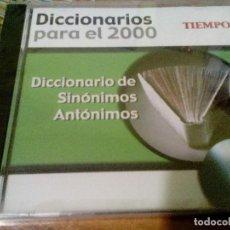 Diccionarios de segunda mano: CD-ROM DICCIONARIO DE SINÓNIMOS Y ANTÓNIMOS, DICCIONARIOS PARA EL 2000. REVISTA TIEMPO. Lote 106103027