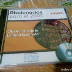 Diccionarios de segunda mano: CD-ROM DICCIONARIO DE LA LENGUA ESPAÑOLA, DICCIONARIOS PARA EL 2000. REVISTA TIEMPO. Lote 106103083
