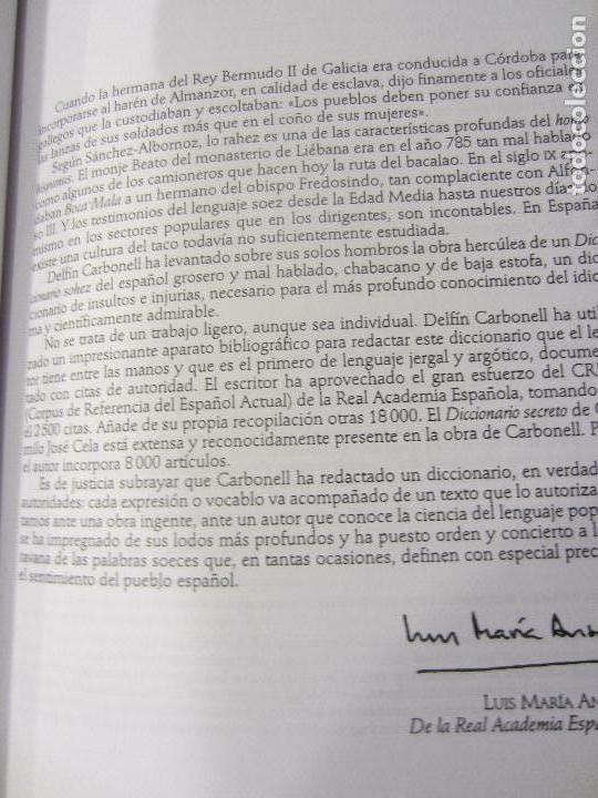 Diccionarios de segunda mano: GRAN DICCIONARIO DEL ARGOT, EL SOHEZ- LAROUSSE- PROLOGO DE LUIS MARIA ANSON-1ª EDICION 2000 - Foto 4 - 107667019