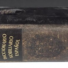 Diccionarios de segunda mano: DICCIONARIO NOBILIARIO ESPAÑOL. JULIO ATIENZA. EDIT AGUILAR. 1948.. Lote 108439875