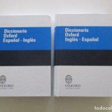 Diccionarios de segunda mano: VV. AA. DICCIONARIO OXFORD ESPAÑOL - INGLÉS. DOS TOMOS. RMT85327. . Lote 109748203