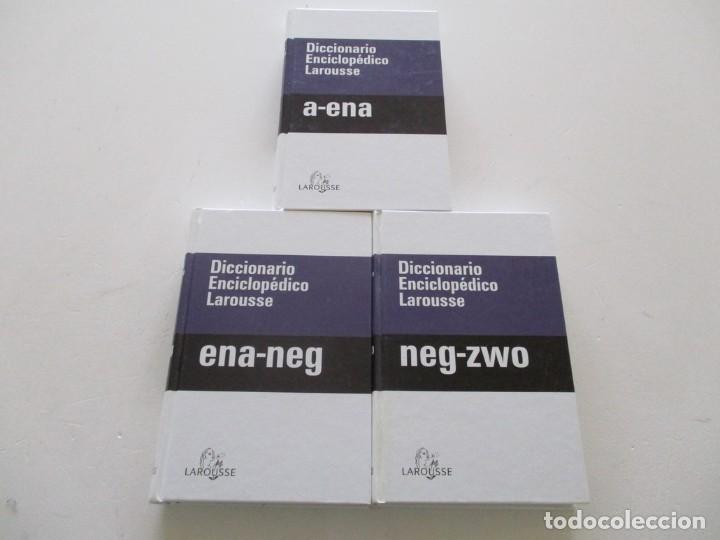 VV. AA. DICCIONARIO ENCICLOPÉDICO LAROUSSE. TRES TOMOS. RMT85330. (Libros de Segunda Mano - Diccionarios)