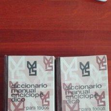 Diccionarios de segunda mano: DICCIONARIO MANUAL MONTANER Y SIMÓN 1971. Lote 110026655