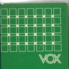 Diccionarios de segunda mano: DICCIONARIO MANUAL VOX - INGLÉS/ESPAÑOL - ESPAÑOL/INGLES - 1967 - TAPA DURA. Lote 113049435