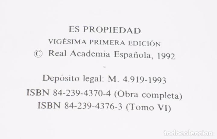 Diccionarios de segunda mano: Diccionario de la lengua española - Real Academia Española - Espasa Calpe (1993) - Foto 3 - 114316639