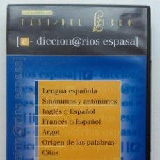 Diccionarios de segunda mano: DICCIONARIOS ESPASA - CD CON 9 DICCIONARIOS - 2002. Lote 116202435
