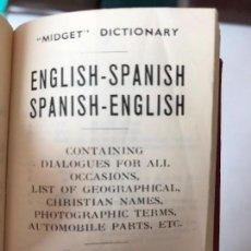 Diccionarios de segunda mano: DICCIONARIO INGLÉS ESPAÑOL TAMAÑO PEQUEÑO EDICIÓN 1964 EDITORIAL BURGESS BOWES. Lote 117003251