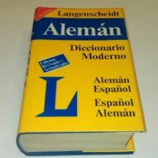 Diccionarios de segunda mano: DICCIONARIO ALEMAN ESPAÑOL LANGENSCHEIDT. Lote 117424599