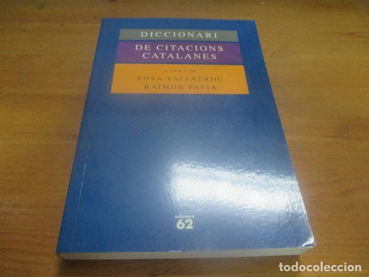 Diccionari De Citacions Catalanes Rosa Vallverdú Edicions 62