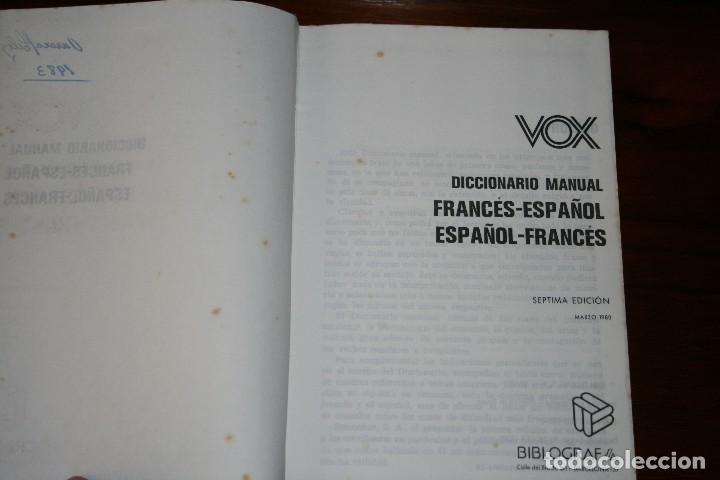Diccionarios de segunda mano: Diccionario Manual Vox. Francés Español. Bibliograf. 7ª Edición. 1980. - Foto 4 - 118855039